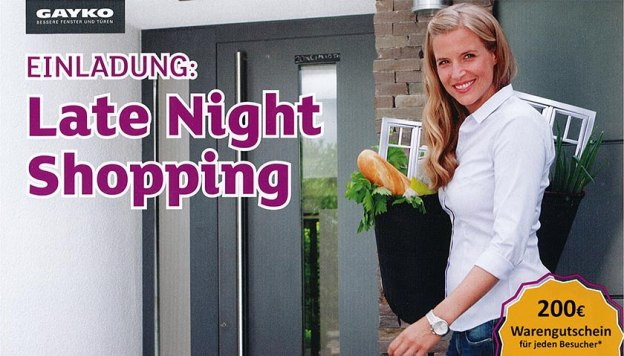 Bild Late Night Shopping bei Rolladen Kutsch